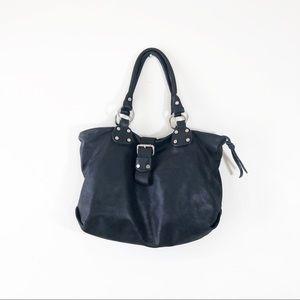 SUNDANCE black handbag shoulder purse chunky